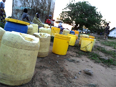 Buckets for collecting water